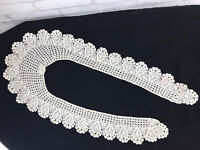 Vintage Long Annie Crocheted Lace Collar Lovely Peking Handicrafts