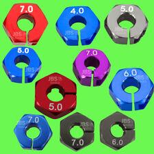 ► 1/10 ALU 12mm Radmitnehmer Rad Adapter Chassis Hex Sechskant Reifen Tuning