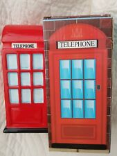 Iconic red telepone money box. 6 and a half inches tall.