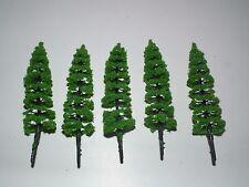 Medium Einzel Pine Bäume x 5 - Krieg gaming.1/72,1/76 20mm scale-ptm5