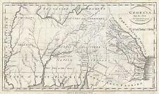 1796 Reid Map of Georgia (including Alabama and Mississippi)