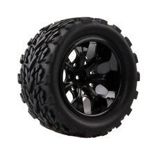 4pcs RC Rubber Sponge Tires Tyre Rim Wheel 1:10 HSP Monster Bigfoot Truck 88025