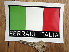 FERRARI ITALIA Tricolore Car Sticker 120mm Race Italy Dino Spider 330 Mondial