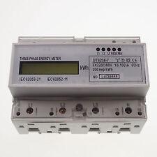 10-100A DIN Rail 220/380VAC 60Hz 3 Phase Watt-hour KWH Energy Meter