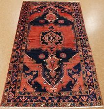 5 x 9 Persian Luri Nomadic Tribal Hand Knotted Wool Navy Rust Oriental Area Rug