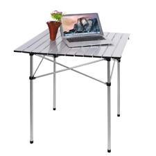 Campingtisch 70x70 Cm Falttisch Alu Rolltisch Gartentisch Klappbar Picknicktisch