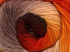 Primadonna 40625 Campfire Ice Fine Baby Weight Self-Striping Wool Acry Yarn 100g