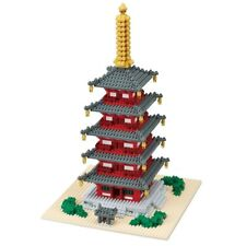 NANOBLOCK FIVE STORIED PAGODA DELUXE 1350 pces Building Blocks Nanoblocks NB-031