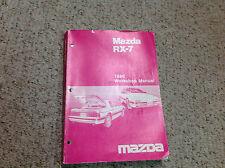 1986 Mazda RX-7 RX7 Service Repair Shop Workshop Manual FACTORY OEM BOOK x