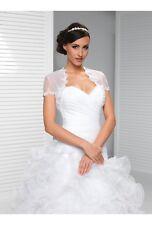 Ivory Organza Bridal Bolero, Wedding Jacket size UK 10