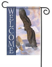 """Majesty Garden Flag Patriotic Welcome Eagle Double Sided Banner 12.5"""" x 18"""""""