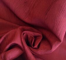 20 metri di qualità in finta seta MOIRE Piuma Design Mirtillo Rosso Tessuto per Tende