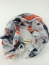 RPP 35£ Diesel Women's Scorpio Scarf Shawl Uni Size Color White 100% Cotton