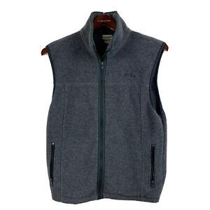 Vintage L.L.Bean Fleece Vest Gray Zip Pockets Women's Size M
