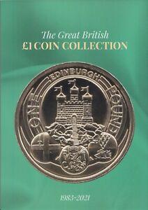 £1 Coin Album NEW 2021 Edition Great British Hunt Collectors Coins Edinburgh