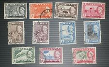 Stamps Malaya – SELANGOR 1957 PART SET to $2