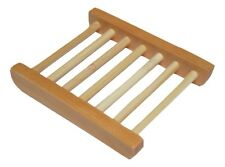 TrendyLuz Natural Wood Soap Tray Wooden Holder Dish for Shower and Bathroom