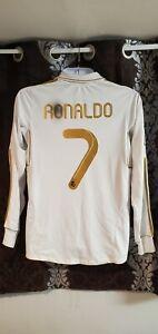Real Madrid soccer jersey long sleeve Ronaldo 7 season 2012 size M  free shippin
