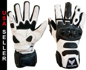 Motorbike Motorcycle Gloves Bike Real Leather CE Armored Knuckle Professional