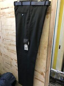 "Mens Black KAM Classic Trousers 40"" Waist"