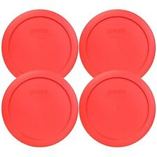 """Pyrex 7201PC Round Red 6.5"""" 4 Cup Lid for Glass Bowl 4 Pack, New, Free Shipping"""