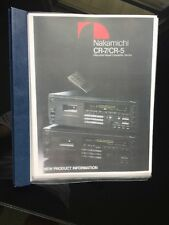 Nakamichi CR-7 Flyer, Brochure, Owners Manual And Service Manual ~RARE~ LOOK !