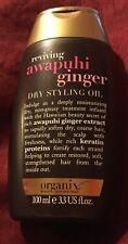 Organix Dry Styling Hair Oil Awapuhi Ginger Keratin Proteins Scalp OGX Moisture