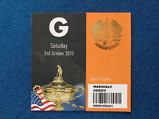 RYDER Cup 2010-CELTIC MANOR-MARSHAL ospite TICKET - 2/10/10