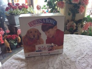 """Design A Bowl  Personalized Dog or Cat Pet 7"""" Round Bowl For Your Pet - NEW"""