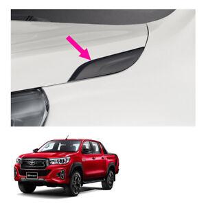 Hood Trim Garnish Matte Black Fits Toyota Hilux Revo Rocco 4 Door 2015 2018