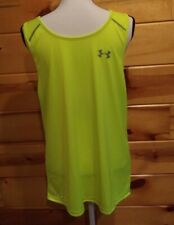 Under Armour Men's Tank Size L Codeblack Fitted Heatgear