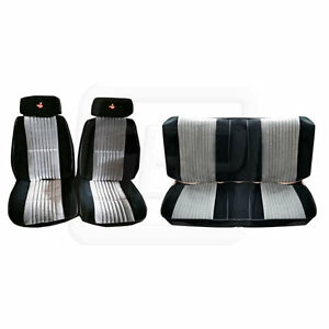 85 86 87 GNX Grand National Black Silver Seat Upholstery Covers - FRONT & REAR