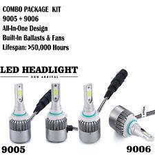 9005 9006 2000W 300000LM Combo LED Headlight Kit High Low Beam Bulbs 6000K White