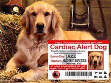Service Dog Card, Service Animal ID Card, Cardiac Alert ID Card, ADA Badge