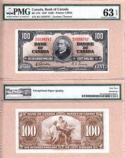 1937 $100 Bank of Canada PMG CHOICE UNC63 EPQ, Gordon & Towers. BC-27b