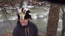 Skunk fur hat * super nice pattern *  Coyote fox raccoon wolf * black powder