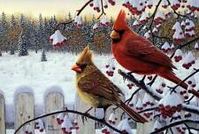 "Kim Norlien Winter Cardinals Print 12"" x 8"""