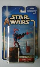 Star Wars Battle Droid Rojo Variante Figura Moc Saga Colección 2002 sellado cardado