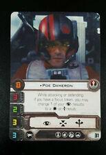 FFG Star Wars X-Wing Miniatures POE DAMERON Alt Art Promo Organized Play NM cny