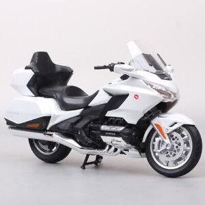 1/12 Scale Welly Honda Gold Wing Moto Bike Motorcycle Cruiser Model Tour White
