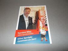 Torsten May   Kölner Sportbotschafter signiert Autogramm auf Autogrammkarte