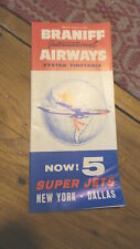 August 1, 1964 BRANIFF INTERNATIONAL AIRWAYS AIRLINES TIMETABLE