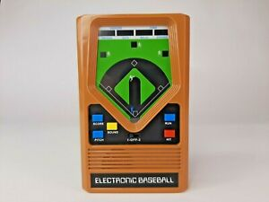 Baseball Handheld Electronic Game 70's Retro Mattel Classic Tested Sounds Lights