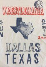 Wrestlemaina 32 Dallas Texas Small T Shirt New Blue Wwe