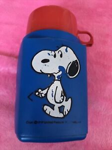 Vintage Snoopy Thermos Roughneck Flask Retro Peanuts 1958 Well Used