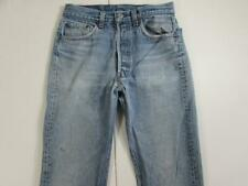 Vtg 80s USA Made Levi 501 Button Fly Faded Denim Jeans Tag 31x36 Measure 28x32.5