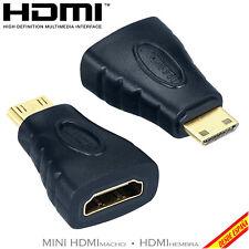 ADAPTADOR CONVERSOR HDMI HEMBRA A MINI HDMI MACHO CONECTOR ORO DORADO