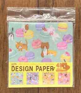 Design Paper Origami Cat Sweets Pattern 6x6 48pcs 150x150mm DIY Craft