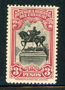 URUGUAY MH Selections: Scott #387 3P Equestrian Artigas WATERLOW CV$23+