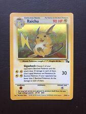 Raichu Rare Shiny Holo - Fossil Set 14/62 Pokemon Card WOTC Good Condition